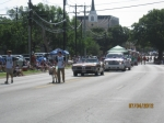 Little Arlie leading the Alumni floats in the July 4, 2012, parade!