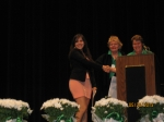 Alumni present 5, $1000 scholarships to graduating seniors on May 20, 2013 presenting the awards, Ana Pettit, President