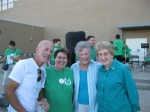 Tim Brennan, Ana Pettit, Helen Schrickle, Jane Ellis at the homecoming, 9/2012.