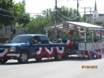 AHS Alumni Band float, July 4,2012 parade!