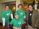 AHS Alumni members, Cathy Bontley Brown, Doris Whitlock, Ana Pettit present Mr. John Webb with an Alumni t-shirt & c