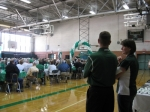 "Coach Peach and Principal Young at the annual Alumni Open House, 2012, held in the AHS ""old"" gym!"